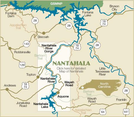 Nantahala River Map Nantahala, North Carolina Local Attractions